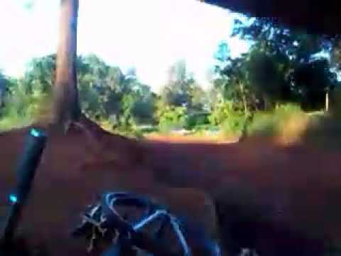 Riding my 4x at the motocross track