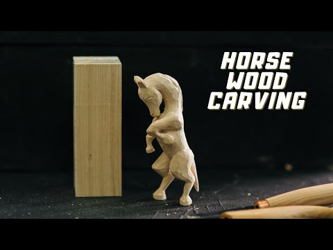 Horse Wood Carving - Whittling Projects for Beginners