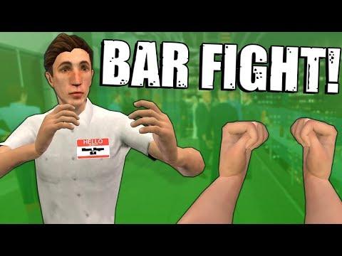 OB & I GOT INTO A BAR FIGHT IN VR! - Drunkn Bar Fight Multiplayer |
