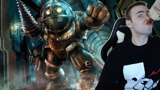 Bioshock BLIND Let's Play - 2 - Big Daddy and Little Sister (Playthrough Walkthrough Reaction)