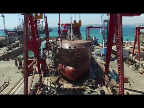 Launching of duel fuel LNG IMO-II chemical tanker M/T Paul A. Desgagnés