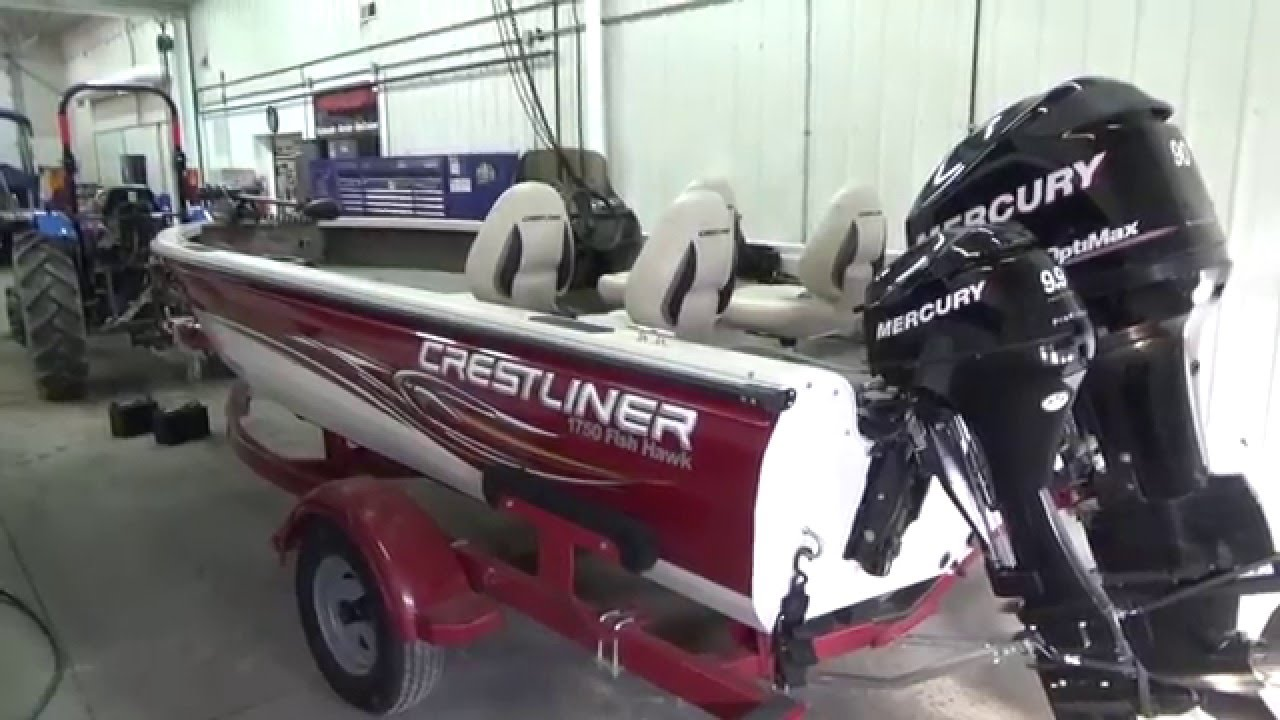 2008 crestliner 1750 fish hawk used aluminum fishing boat for Buy bass boat without motor