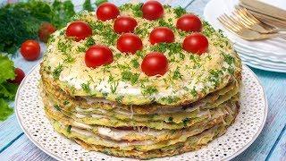 кабачковый Торт / Торт из Кабачков / Squash Cake / Вкуснейшая Закуска / Пошаговый  Рецепт