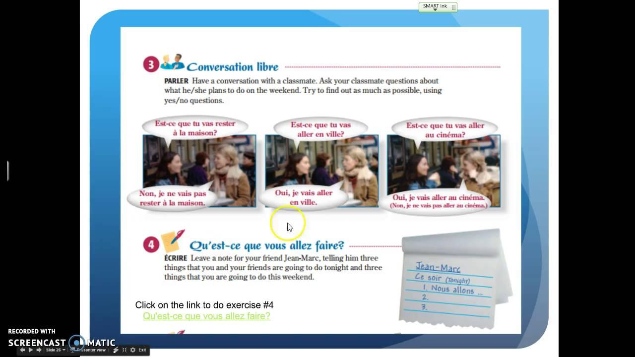 Discovering French Leçon 14 A votre tour pages 214-215 - YouTube
