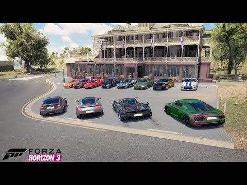 "Forza Horizon 3 ""Dream Car"" Car Show, Cruise, Roll Racing, 1v1, Airstrip Drags And More!"