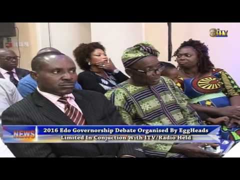 Edo 2016 governorship debate orgnised by Eggheads in conjunction with ITV/Radio held