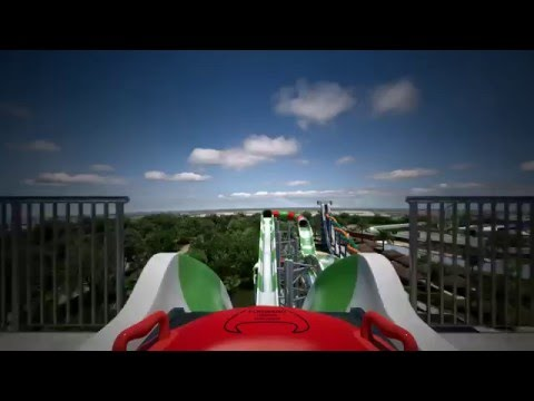 MASSIV Water Coaster POV - Schlitterbahn Galveston Texas