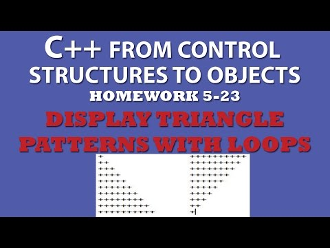 5-23 C++ Display Triangle Patterns With Nested Loops
