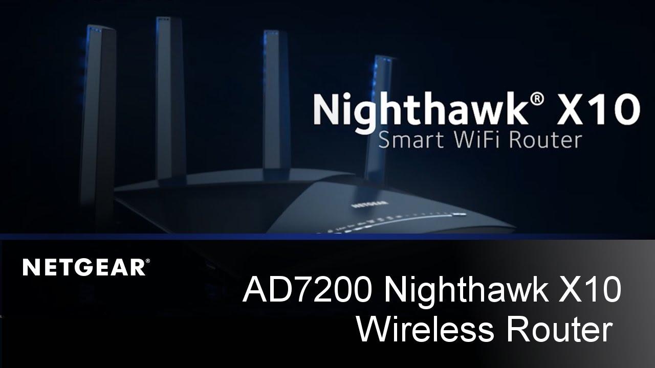 Nighthawk X10 AD7200 Smart Wireless Router Sizzle Video   NETGEAR