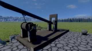 Medieval Engineers Catapult Without Torsion Spring