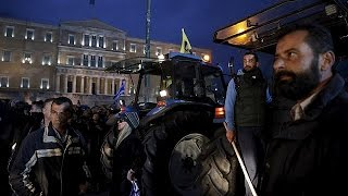 Greek farmers pension protests bring violence to Athens