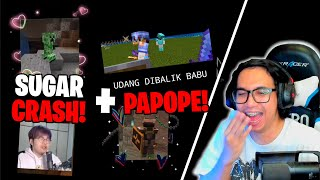 REACTION SUGAR CRASH CAMPUR PAPOPE DI BAPAK KAU DAN SANS SMP !
