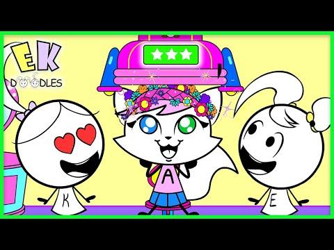 best-hairstyles-of-emma-&-kate!-ek-doodles-cute-diy-easy-hair-tips-for-kids-!!!