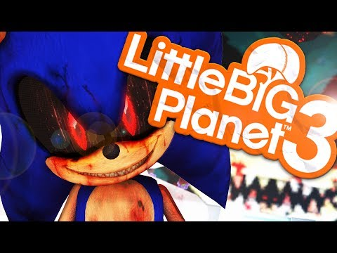 LittleBigPlanet 3 -  SONIC.EXE CREEPYPASTA  - Little Big Planet 3 Sonic .exe