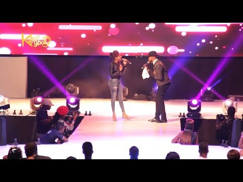 Banky W And His Wife Adesua Perform On Stage