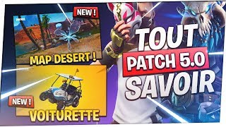 SUMMARY PATCH 5.0: MAP DESERT, VEHICULE, NEW PASS... | Fortnite Battle Royale