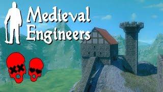 Building Vader Hall Part 3/barbarians | Medieval Engineers Gameplay