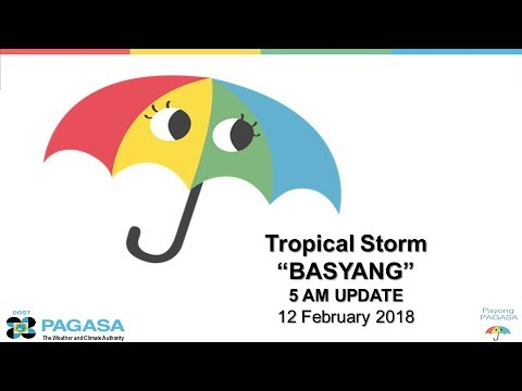 "Press Briefing: Tropical Storm ""#BasyangPH"" Monday 5 AM, February 12, 2018"