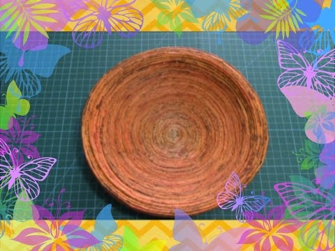 #diy Art and #craft #tutorial : #howto make Paper Tube Bowl/ Diy Paper Tube Bowl