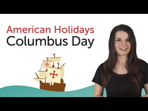 Learn American Holidays - Columbus Day