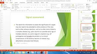 pharmacovigilance lec 17 Signal assessment , Recommendation for action and Exchange of information