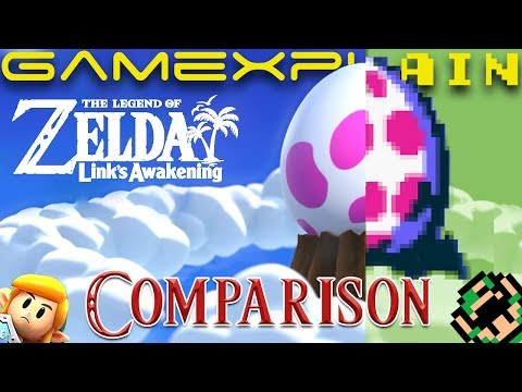 Zelda: Link's Awakening E3 Demo Graphics Comparison (Nintendo Switch vs Game Boy)