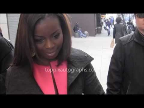 Erica Tazel  Signing Autographs at NYC hotel