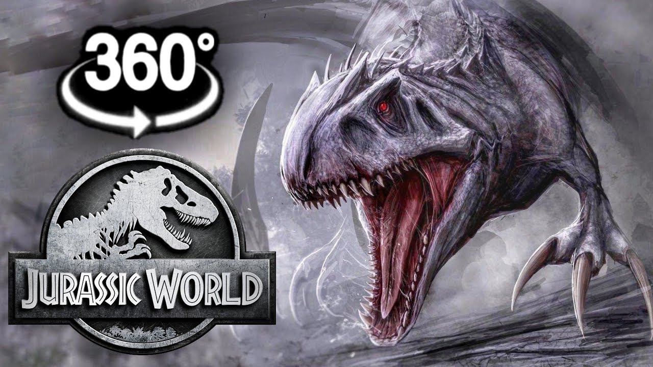 360 Video of Dinosaurs in Jurassic World Evolution Virtual Reality Experience 4K