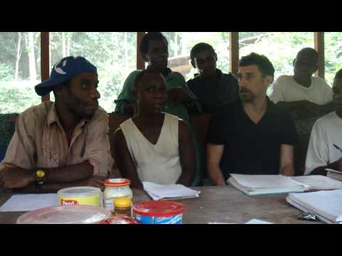 English lessons with the Ba'aka from northern Congo