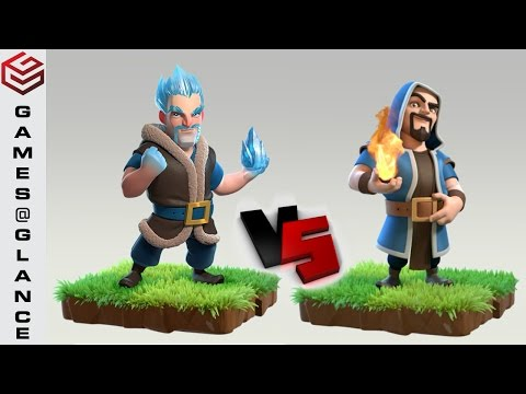 Clash of Clans Troops Comparison | Do you think Ice Wizards can Outsmart the Wizards ??