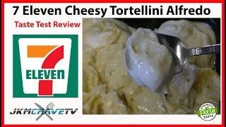 7-Eleven Tortellini Alfredo Taste Test Review | JKMCraveTV