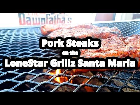 Pork Steak   Lone Star Grillz Santa Maria   Carolina Q