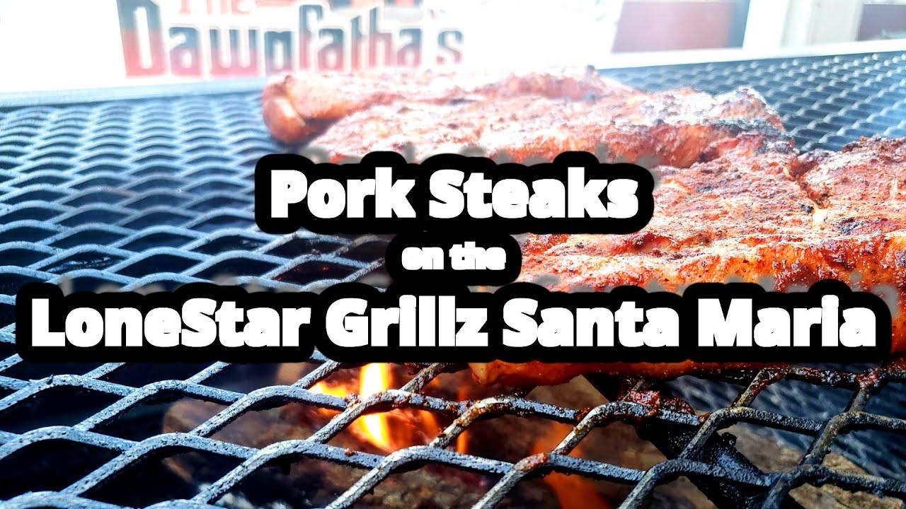 Pork Steak | Lone Star Grillz Santa Maria | Carolina Q Southern Mustard  Sauce
