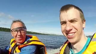 По річці Онеге в покинуту село Мондино. Поїздка на човні.