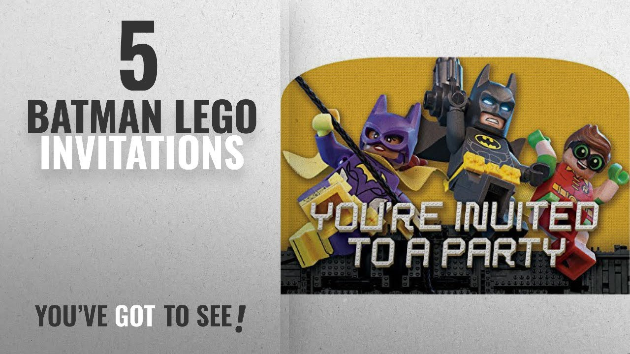 Top 10 Batman Lego Invitations 2018 American Greetings Boy S Lego