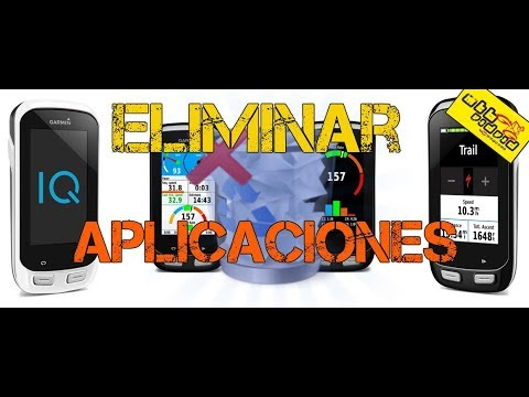 Desinstalar apps en Garmin Edge