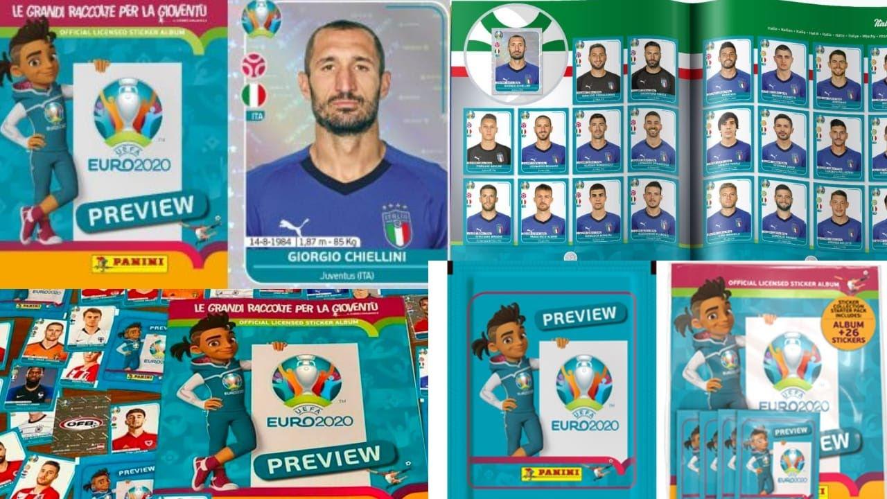 EURO 2020 preview _ album e figurine