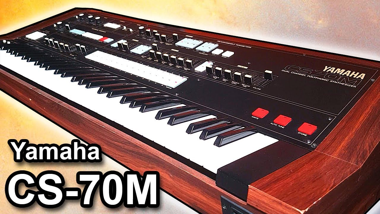 YAMAHA CS-70M analog synthesizer - Sounds & patches 【SYNTH DEMO】