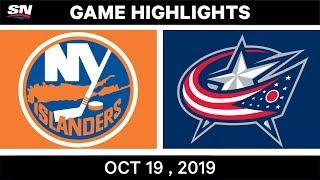 NHL Highlights | Islanders vs. Blue Jackets – Oct. 19, 2019