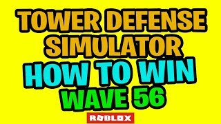 ROBLOX Tower Defense Simulator How To Win Wave 56 GOLDEN ZOMBIE SENTRY UPDATE