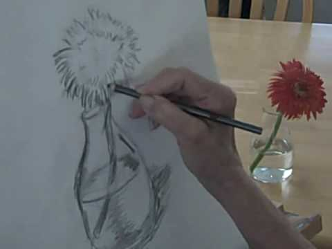 draw-a-flower-with-pencil