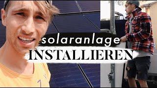 Solaranlage installieren + Kiten auf der Wiese | MANDA Vlog