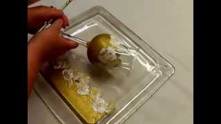 Painting Gold and White Flower Glassware Video