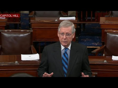 McConnell speaks on Senate floor on second day of shutdown
