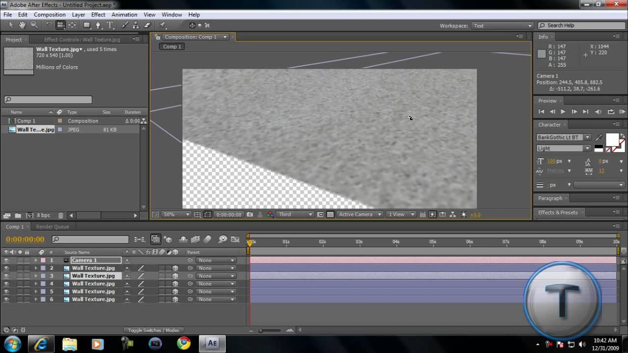 how to add infochart on video after effects cs4