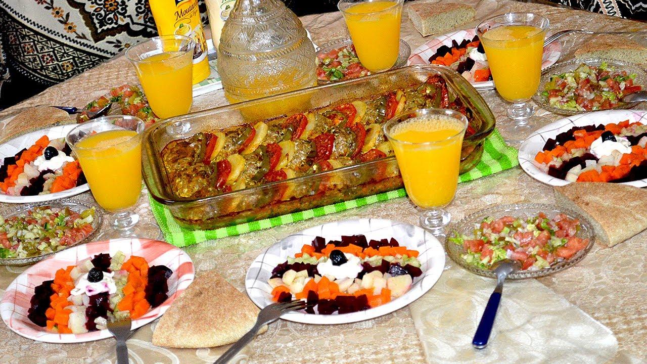 تحضير مائدة غداء صيفية سهلة وبسيطة بأطباق أقل من 40 درهم مغربية Youtube