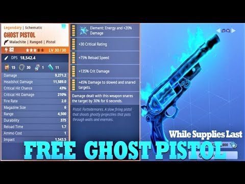 Giving Away Maxed Perk Ghost Pistol|Fortnite Save The World|Support A Creator ID Longxrange