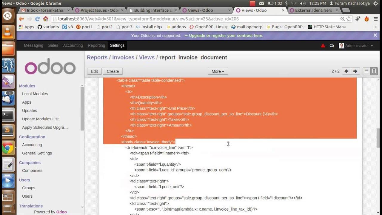 create qweb report