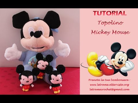 Tutorial Topolino Amigurumi Mickey Mouse Crochet 11 Youtube