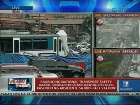Pagbuo ng National Transport Safety Board, sinusuportahan daw ng palasyo